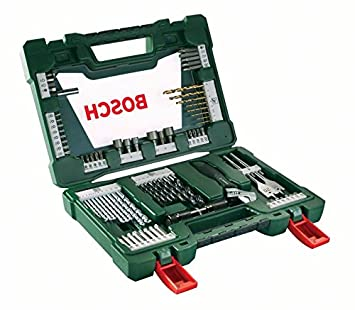 Image result for Bosch 2607017193 Drill Bit And Screwdriver Bit Accessory Set With LED Torch And Adjustable Spanner (83-Piece)