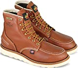 Thorogood 814-4600 Men's 6'' Moc Toe, MAXwear Wedge Waterproof Non-Safety Toe, Tobacco - 8 D(M) US