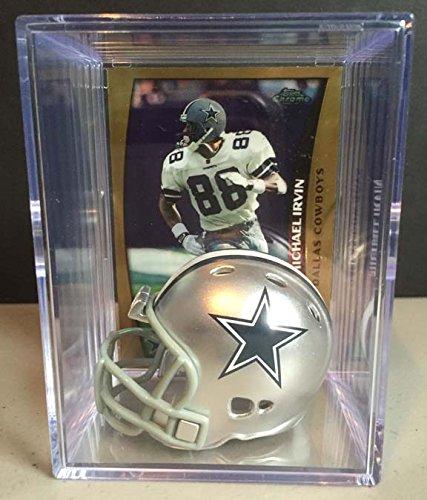 Dallas Cowboys NFL Helmet Shadowbox w/ Michael Irvin be honest