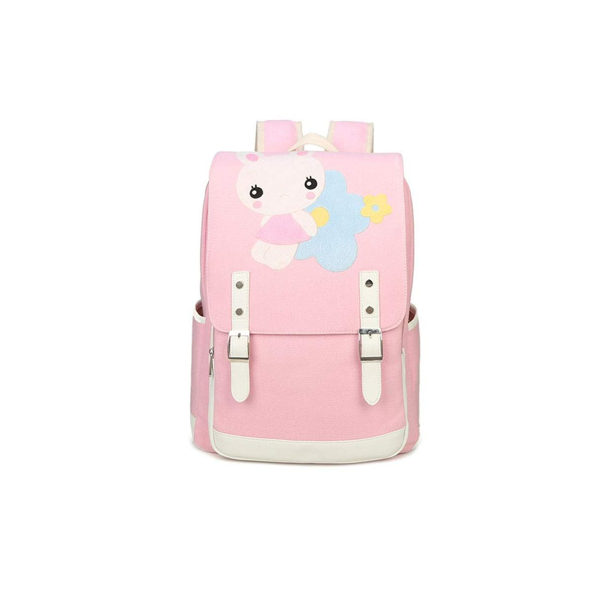 TONGBOSHI Simple Fashion Backpack, School Bag Primary School Student, Girl Leisure Travel Travel Backpack, Lightweight Backpack (Color : Pink, Size : S)