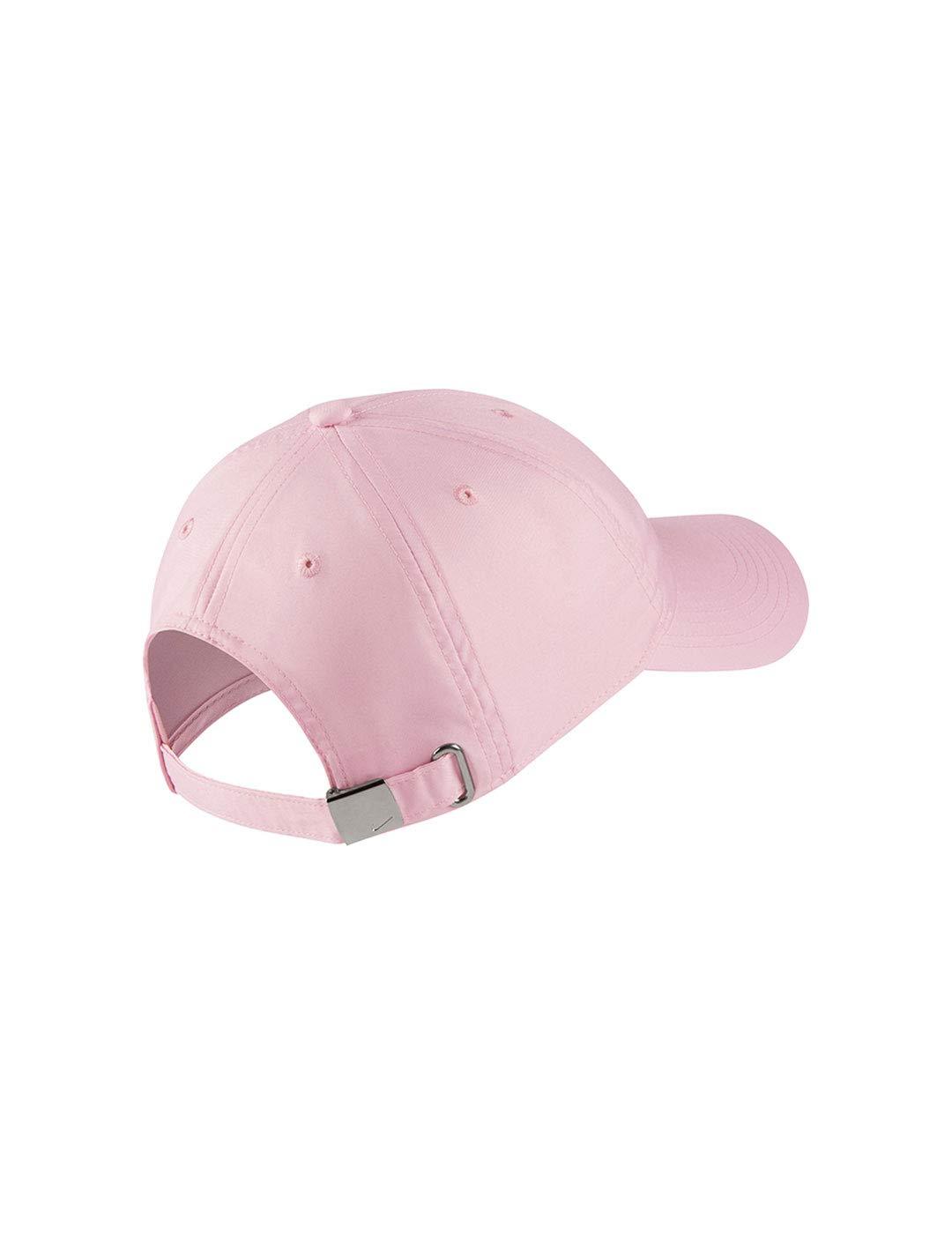 Nike Heritage86 cap Metal Swoosh Pink Foam//Metallic Silver 663 Taglia Unica Cappellopello Bambina Rosa
