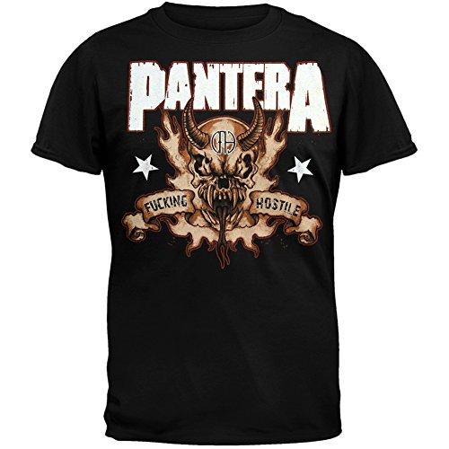 Old Glory Pantera - Hostile Skull T-Shirt - Large Black