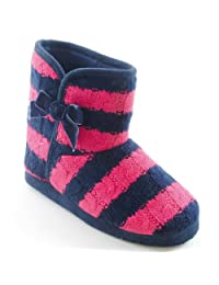 Girls Boot Slippers With Bow