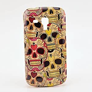 Bkjhkjy Pretty Heart Skull Hard Case for Samsung Galaxy Trend Duos S7562