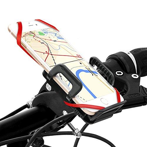 Fahrrad Handyhalterung, Migimi neusten Universal drehbar Handyhalter Fahrrad verstellbar, 360-Grad-Drehung, Handyhalter Fahrrad Verstellbar Motorradhalter Halterung für das Samrtphones wie iPhone 7/7 plus , Samsung Galaxy S7 & S7 Edge und Andere