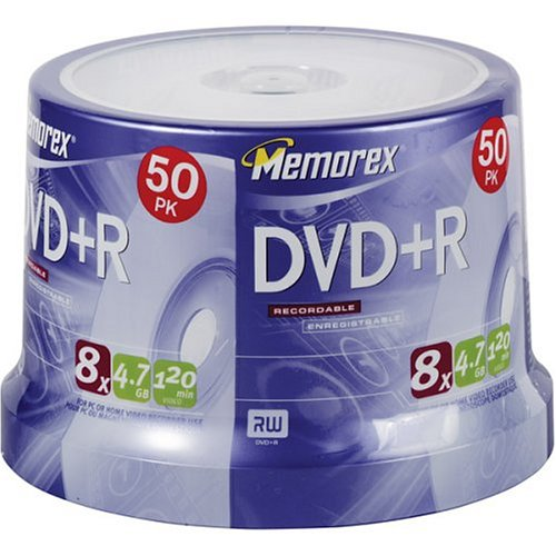 Memorex 4.7GB 8x DVD+R (50-Pack Spindle) (Discontinued by Manufacturer) by Memorex