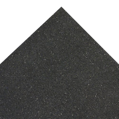 Rubber-Cal ''Shark Tooth'' Heavy-Duty Matting - 3/4-inch Thick Rubber Mats - Black - Made in the USA - 3/4 inch thick x 4ft x 6ft by Rubber-Cal (Image #2)