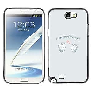 Cubierta protectora del caso de Shell Plástico || Samsung Note 2 N7100 || DIVERTIDO NO PUEDE PAGAR EL AMOR @XPTECH