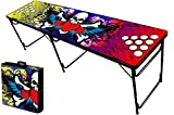 8-Foot Professional Beer Pong Table w/ Holes - Rock On Graphic