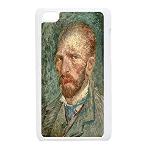 Van Gogh Art Painting Series,Ipod Touch 4 Case,Van Gogh Art Painting Self Portrait Phone Case For Ipod Touch 4[White]