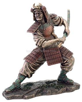 Samurai Warrior Statue in Combat Figurine Martial Arts 3211