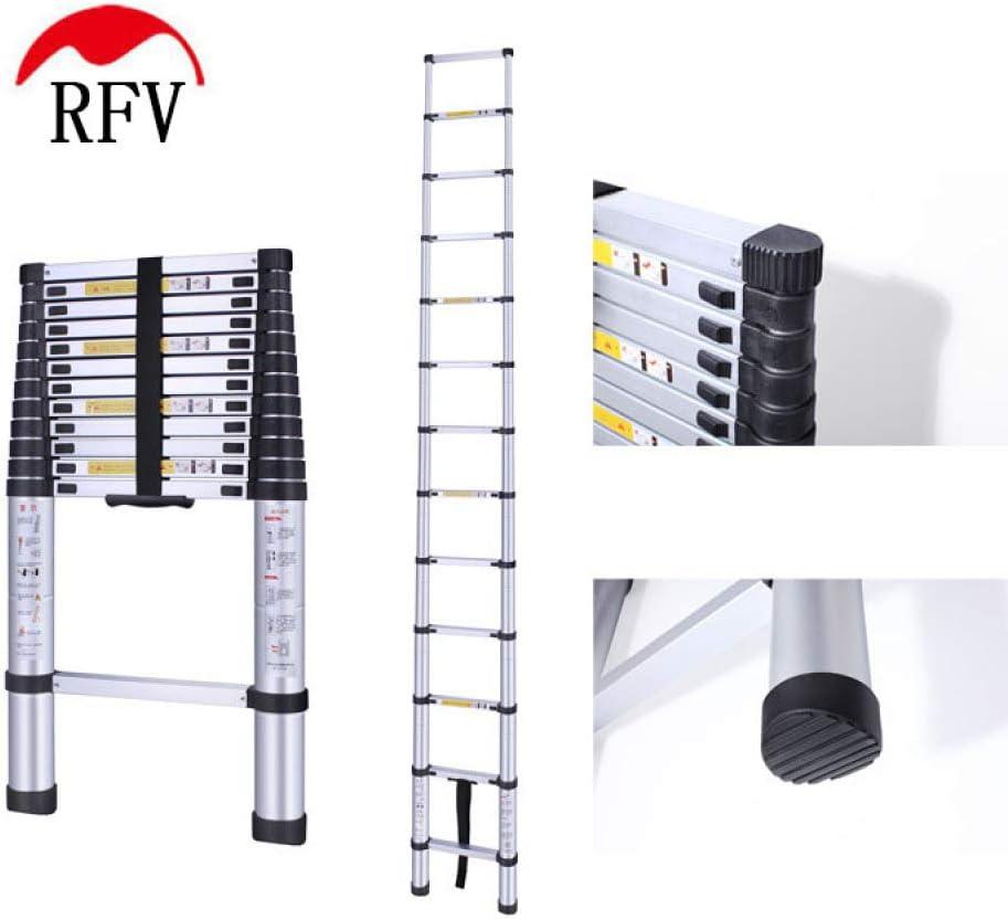 RFV Escalera telescópica Antideslizante de una Cara, aleación de Aluminio Escalera Plegable multifunción, Juntas Ajustables Escalera de Doble Uso Null: Amazon.es: Deportes y aire libre