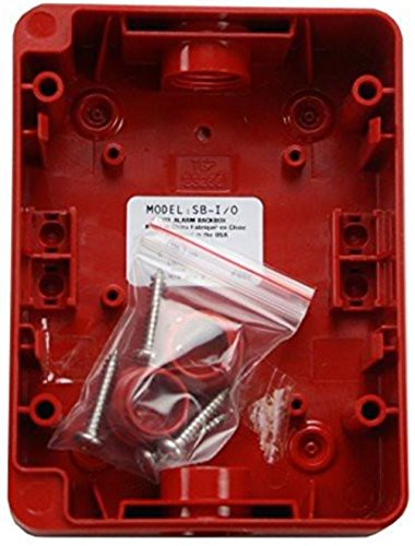 Fire Lite Alarms Sb-I/O Red Fire Alarm Indoor Outdoor Polycarbonate Surface Mount Back Box Review