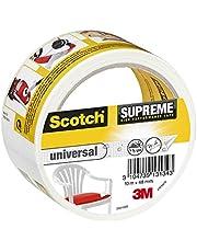 3M Scotch Suprême Ruban Toilé de Réparation Ultra Résistant 10 m x 48 mm 1 Rouleau Blanc