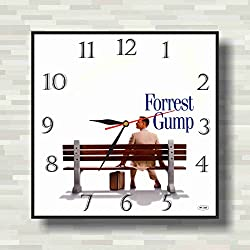 Forrest Gump 11.8'' Handmade unique Wall Clock - Get unique décor for home or office – Best gift ideas for kids, friends, parents