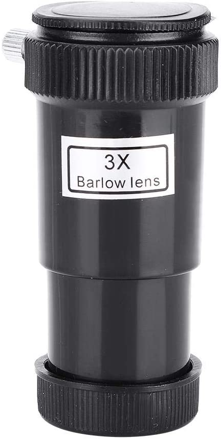 Qiterr 0.96 3X Barlow Lens Plastic for Astronomic Telescope Eyepieces Astronomical Telescope Accessories