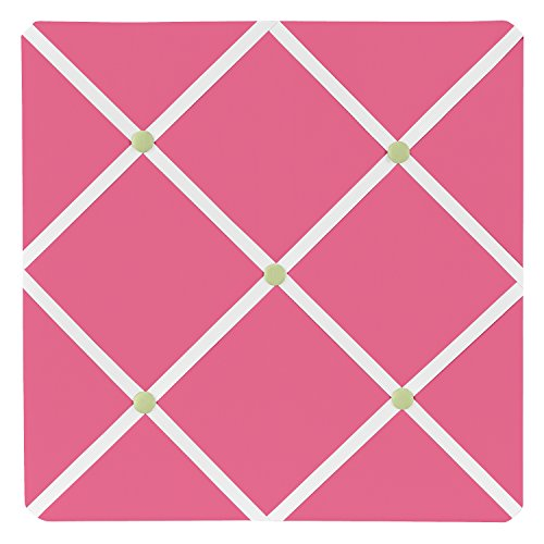 Sweet Jojo Designs Pink and Green Flower Fabric Memory/Memo Photo Bulletin Board - Make Photo Board