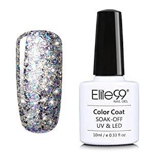 Elite99 Soak Off Starry Gel UV LED Gel Nail Polish Top Base Coat Manicure 10ml 6602