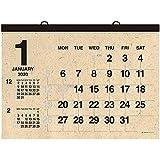 壁掛カレンダー【2020年 1月始まり】A2 クラフト CK-04