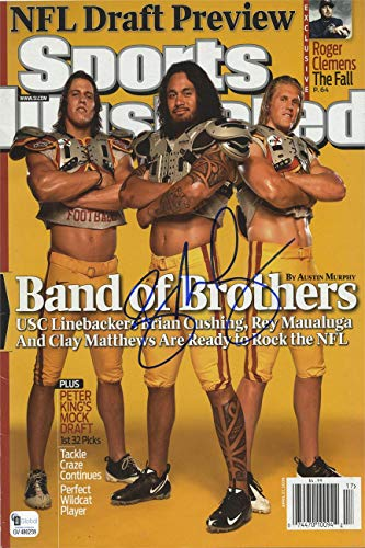 Rey Maualuga Sports Illustrated Autograph Replica Super Print - Band Brothers - USC Trojans - 4/27/2009 - Unframed