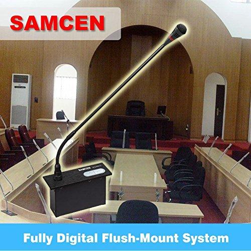 Samcen Professional Desktop Embedded Conference System SCS-6100MA,SCS-6001C/D,6-User package - Delegate Unit