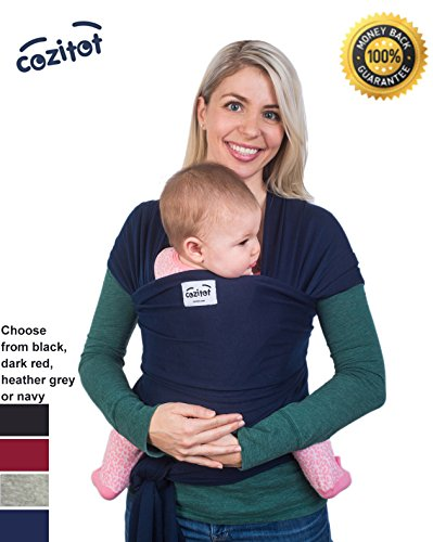 navy-blue-baby-sling-wrap-carrier-by-cozitot-soft-medium-stretchy-baby-carrier-all-cloth-baby-wrap-s