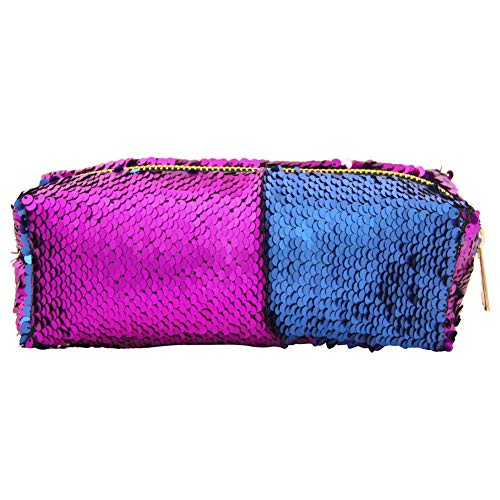 c57d21e9341c MHJY Mermaid Sequin Pencil Case Magic Sequins Cosmetic Bag Makeup Pouch  Glitter Color Changing Stationary Case Reversible Sequins Makeup Organizer  ...