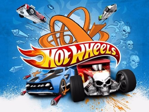 CAKEUSA HOT WHEELS Race Car Party Birthday Cake Topper Edible Image 1/4 Sheet Frosting]()
