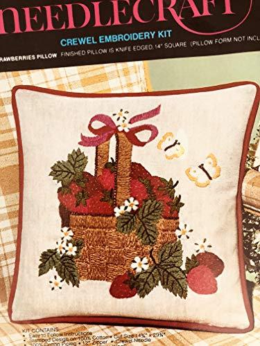 Vintage 1974 Avon Creative Needlecraft Crewel Embroidery Kit - Basket of Strawberries ()