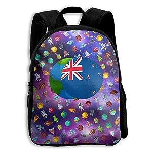 Amazon Com New Zealand Flag Kids School Backpack Bookbag Adjustable