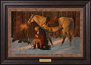 The Prayer at Valley Forge - Arnold Friberg - Framed Giclee Canvas