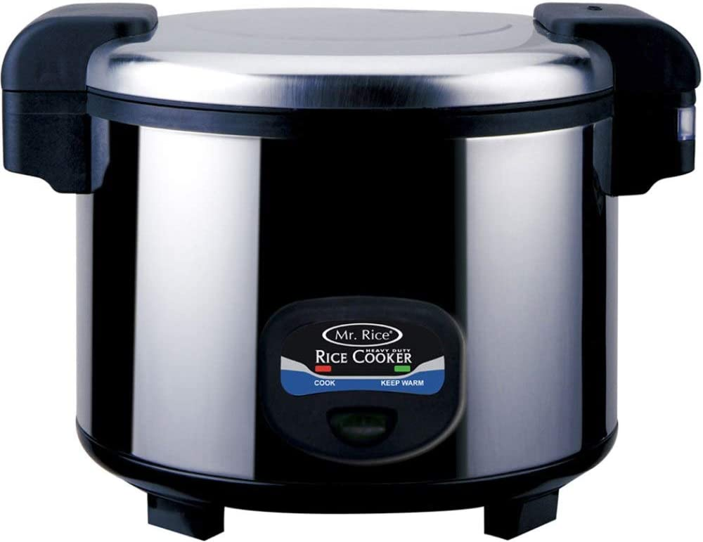 SPT SC-5400S 35-Cup Heavy-Duty Rice Cooker, Stainless steel, Easy one-button operation, Pilot indicator lights, Automatic keep warm system for up to 24hours, 3-Dimensional heating for even cooking