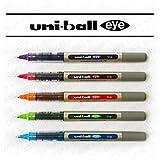 Uni-Ball EYE UB-157 Fine Liquid Ink Rollerball Pen - Tropical Set - Pack of 5