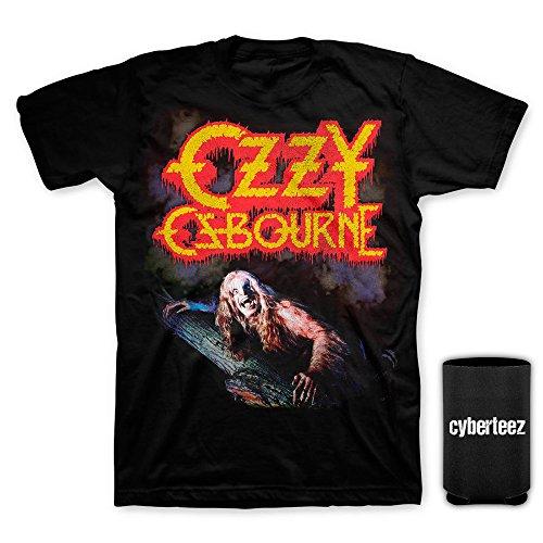 Bark Mens T-shirt - Ozzy Osbourne Bark At The Moon Vintage T-Shirt + Coolie (L)