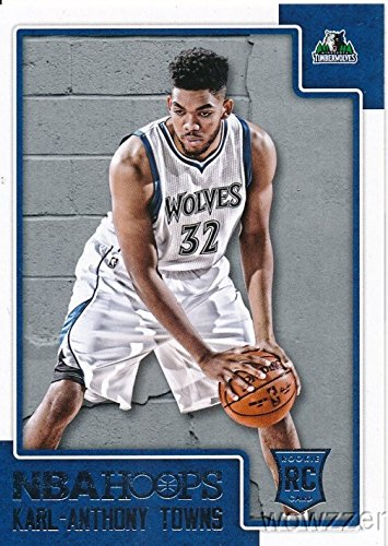 Karl-Anthony Towns 2015/2016 Panini Hoops NBA Basketball #289 ROOKIE Card in MINT Condition! Shipped in Ultra Pro Snap Card Holder to Protect it! Awesome ROOKIE of Minnesota Timberwolve's Future Star! ()