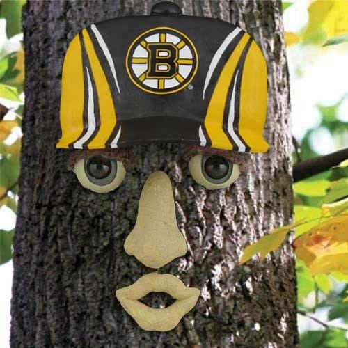 Boston Bruins Resin Tree Face Ornament