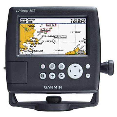 Garmin GPS Map 585 Chartplotter Fishfinder with 50 200KHz Transducer and NZ AU Chart G2 Vision Chart