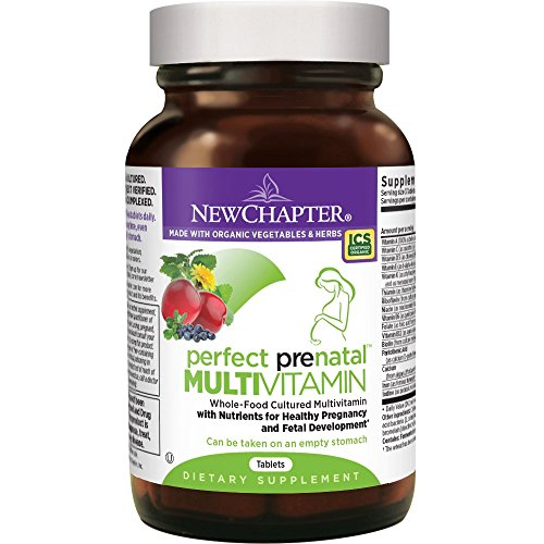 New Chapter Perfect Prenatal Vitamins Fermented with Probiotics + Folate + Iron + Vitamin D3 + B Vitamins + Organic Non-GMO Ingredients – 96 ct