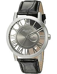 Men's 10020809 Transparency Analog Display Japanese Quartz Black Watch