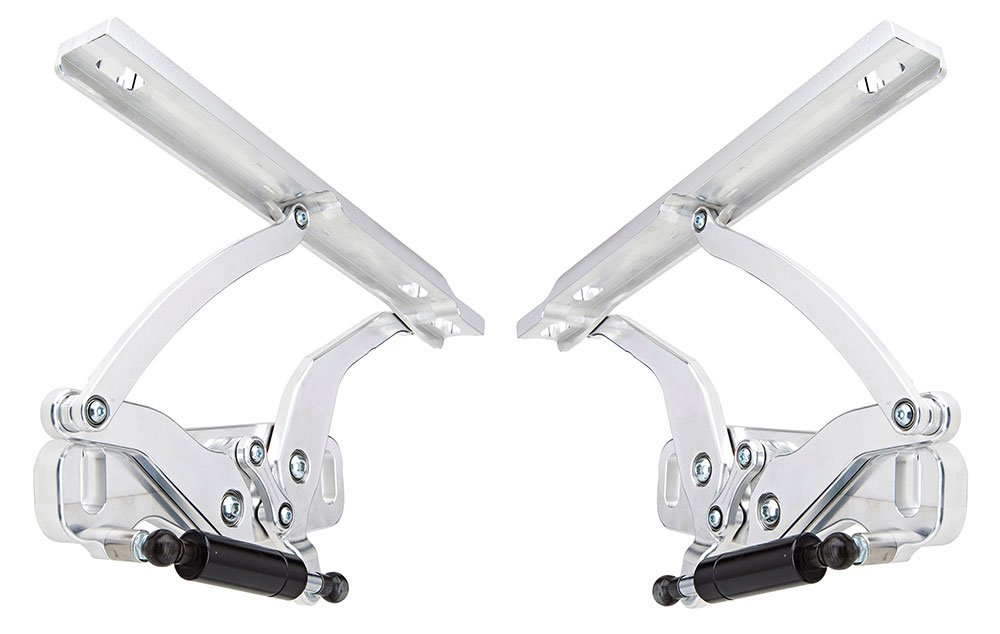 Ringbrothers 22702-1051NS Chevrolet Chevelle Billet Aluminum Natural Finish Solid Arm Hood Hinge - Pair
