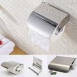 Ethnic Toilet Tissue Paper Roll Holder / Dispenser With Lid - Stainless Steel Bathroom