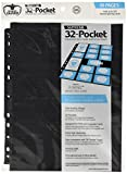 Pages 32 Pocket Stand Card Sleeves (10 Piece), Black, Mini