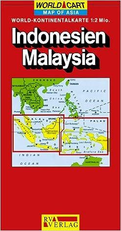 Indonesiamalaysia world map amazon reise und indonesiamalaysia world map amazon reise und verkehrsverlag 9783575332035 books gumiabroncs Image collections