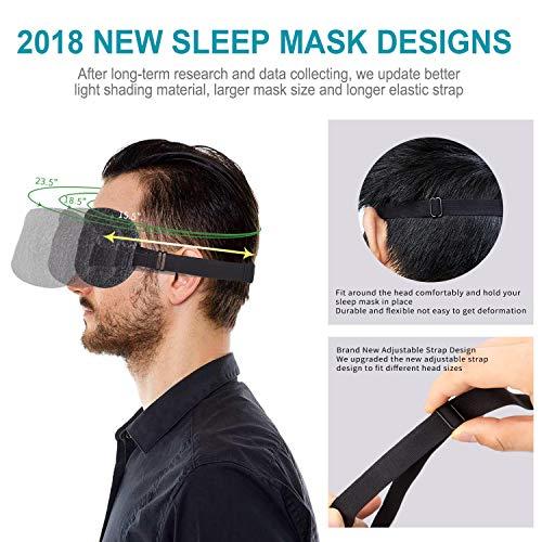 NEWVANGA Soft Light-Blocking Sleeping Mask Package