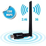 EBEAUTYDAY WiFi 無線LAN 子機 USB3.0式 1200Mbps  2.4Ghz/5Ghz  Windows10/8/7/XP/Vista/Mac/Linuxに対応
