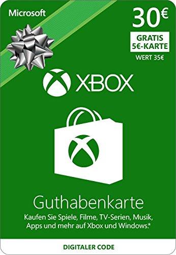 xbox one karte Xbox Live   30 EUR Guthaben und 5 Euro Gratis [Xbox Live Online  xbox one karte