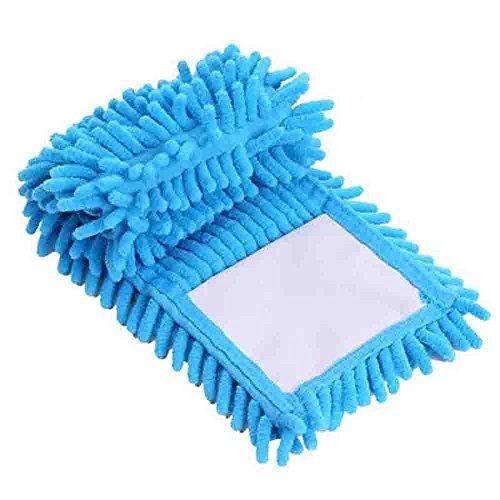 NPLE--Flat Mop Household Mop Head Microfiber Floor Cleaner Dust Cleaning Pad (Blue)