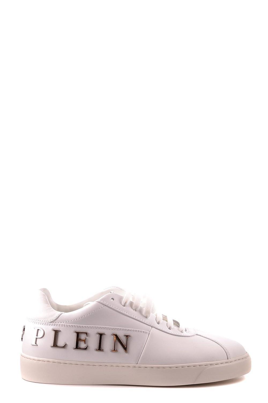 Philipp Plein メンズ MSC0003PLE008N01 ホワイト 革 運動靴 B07DXJTXB7