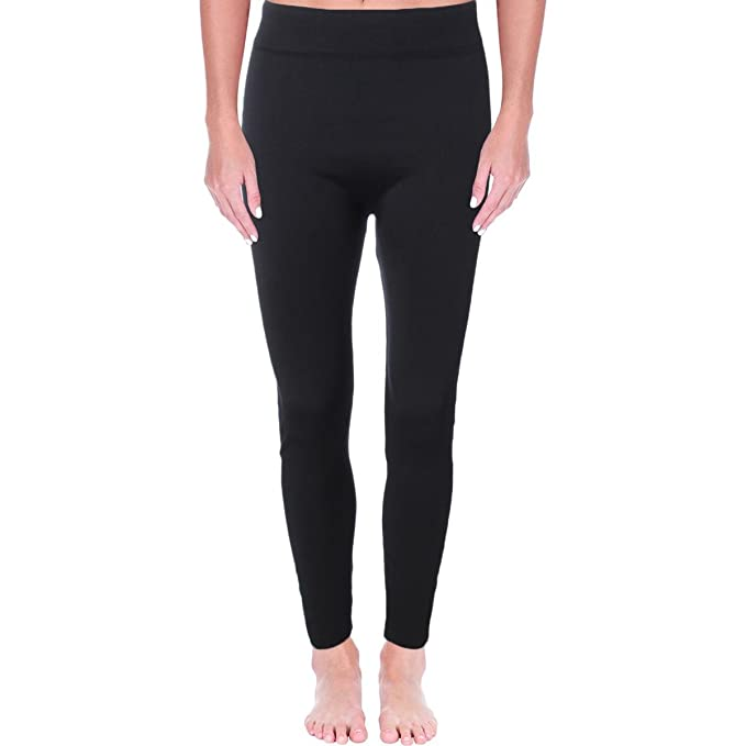 b6346ceb5bca0 Image Unavailable. Image not available for. Color: Sofra Womens Plus Solid  Stretch Leggings ...