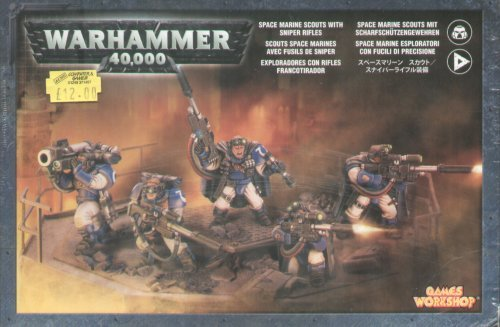 Games Workshop Space Marines Scouts W/Sniper Rifles - Sniper Army Rifle